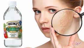 فوائد الخل الأبيض لتفتيح البشرة وتبييض الوجه